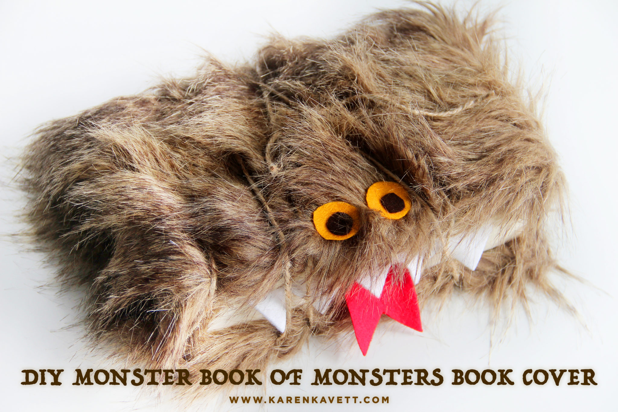 Harry Potter Monster Book Cover : Diy monster book of monsters cover the project for