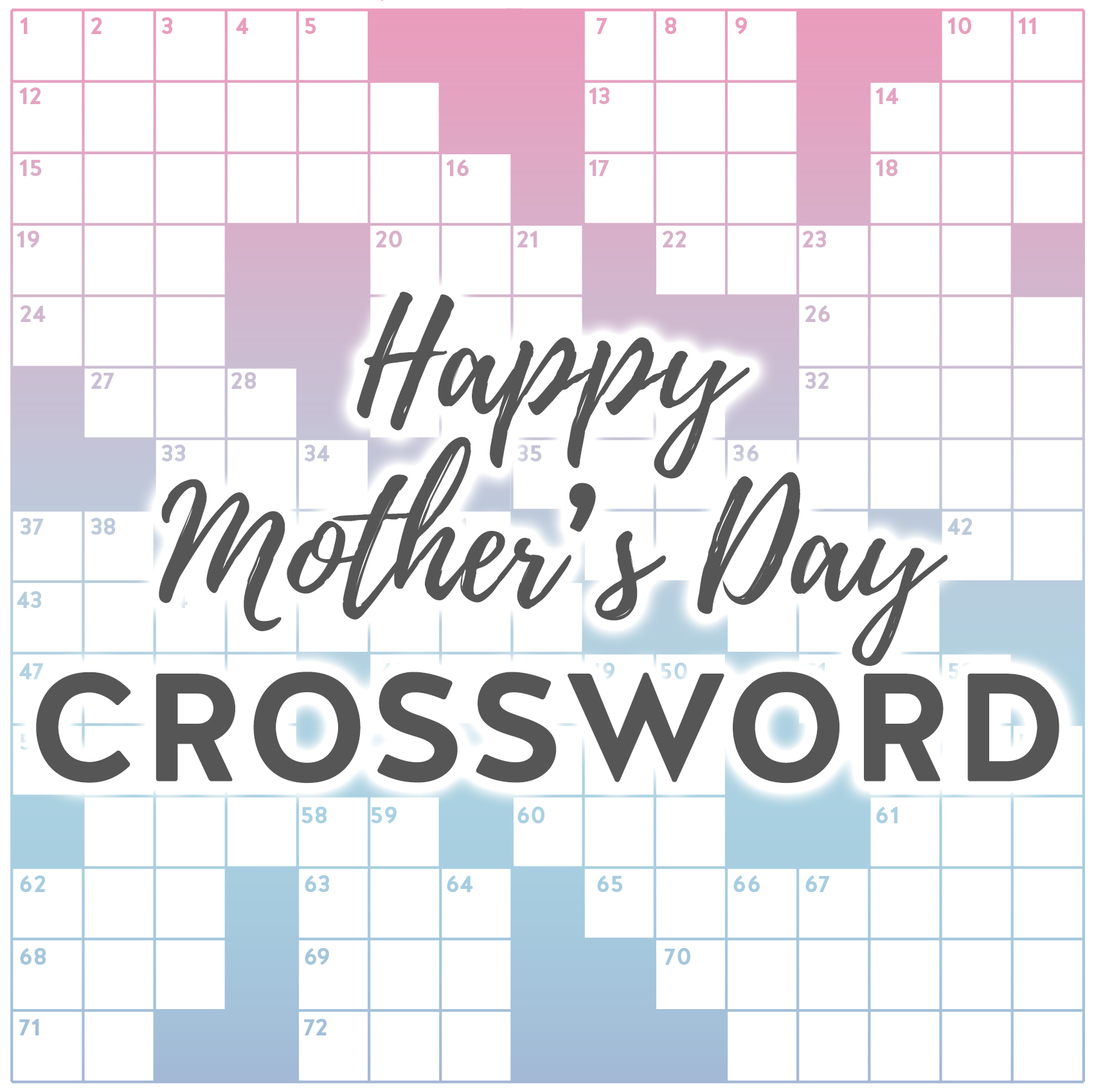 Happy Mother S Day Crossword Puzzle Karen Kavett