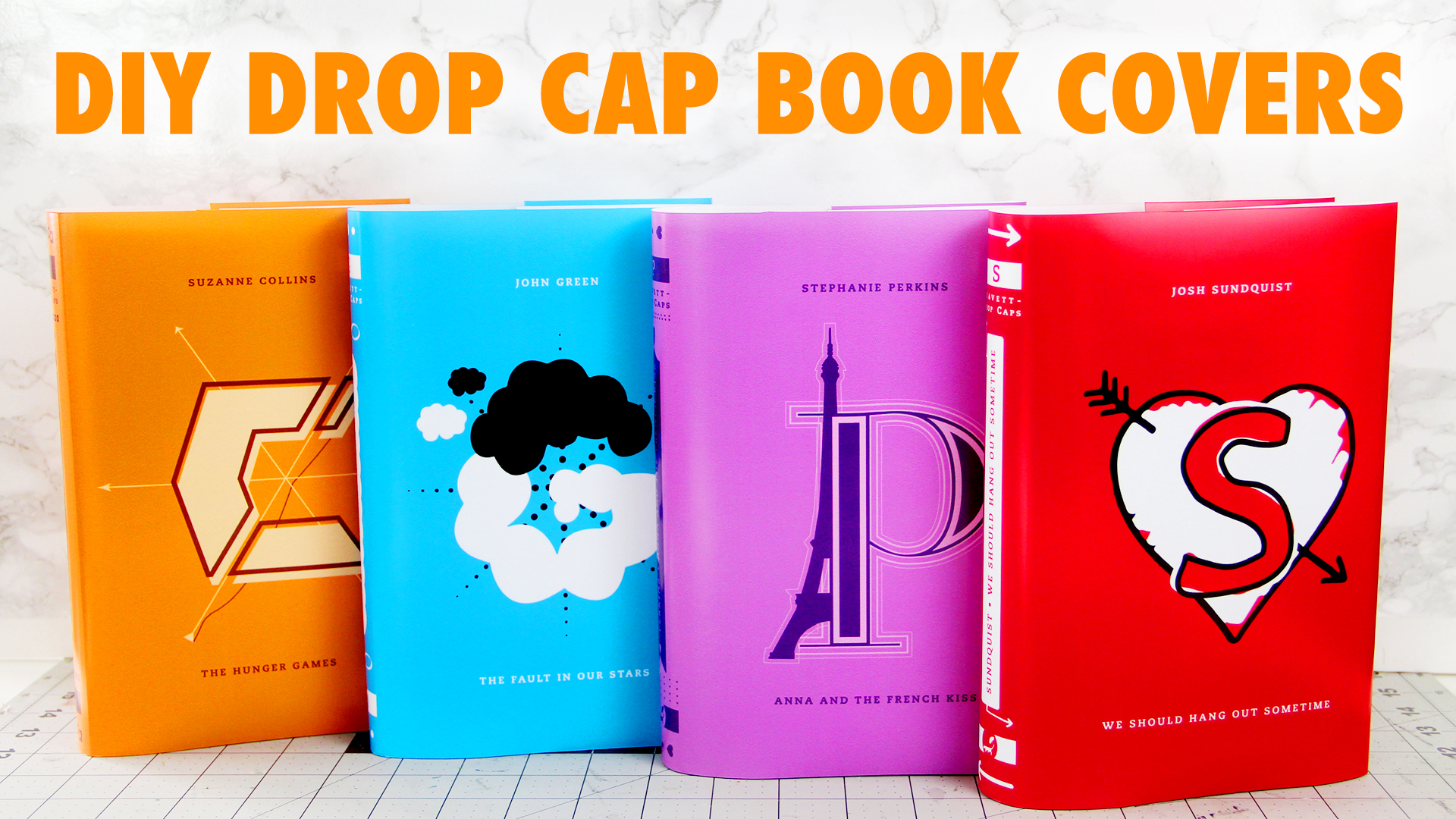 How To Create A Book Cover Design ~ Diy penguin drop cap book covers karen kavett
