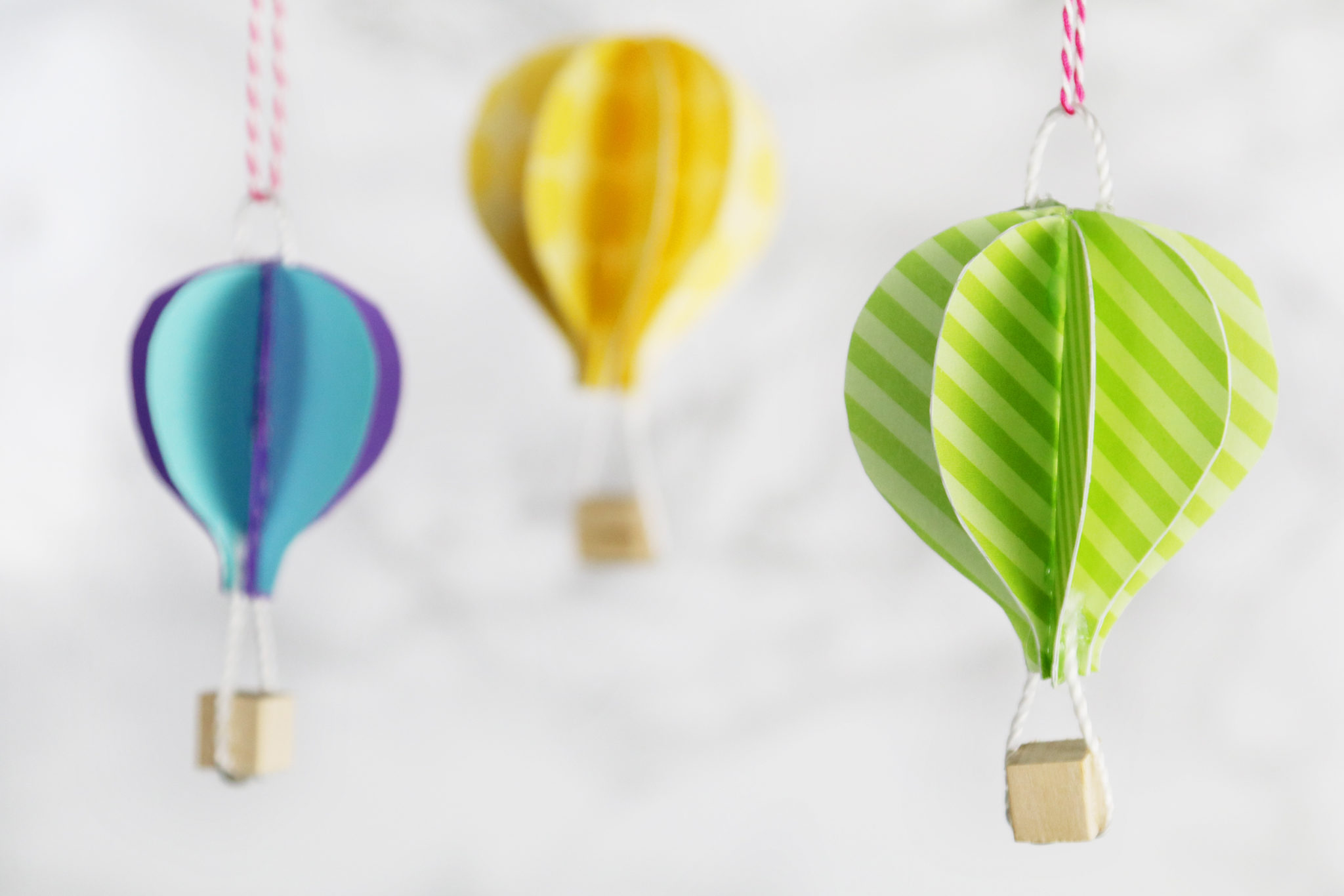 Diy cute paper hot air balloons karen kavett for What can you make with balloons