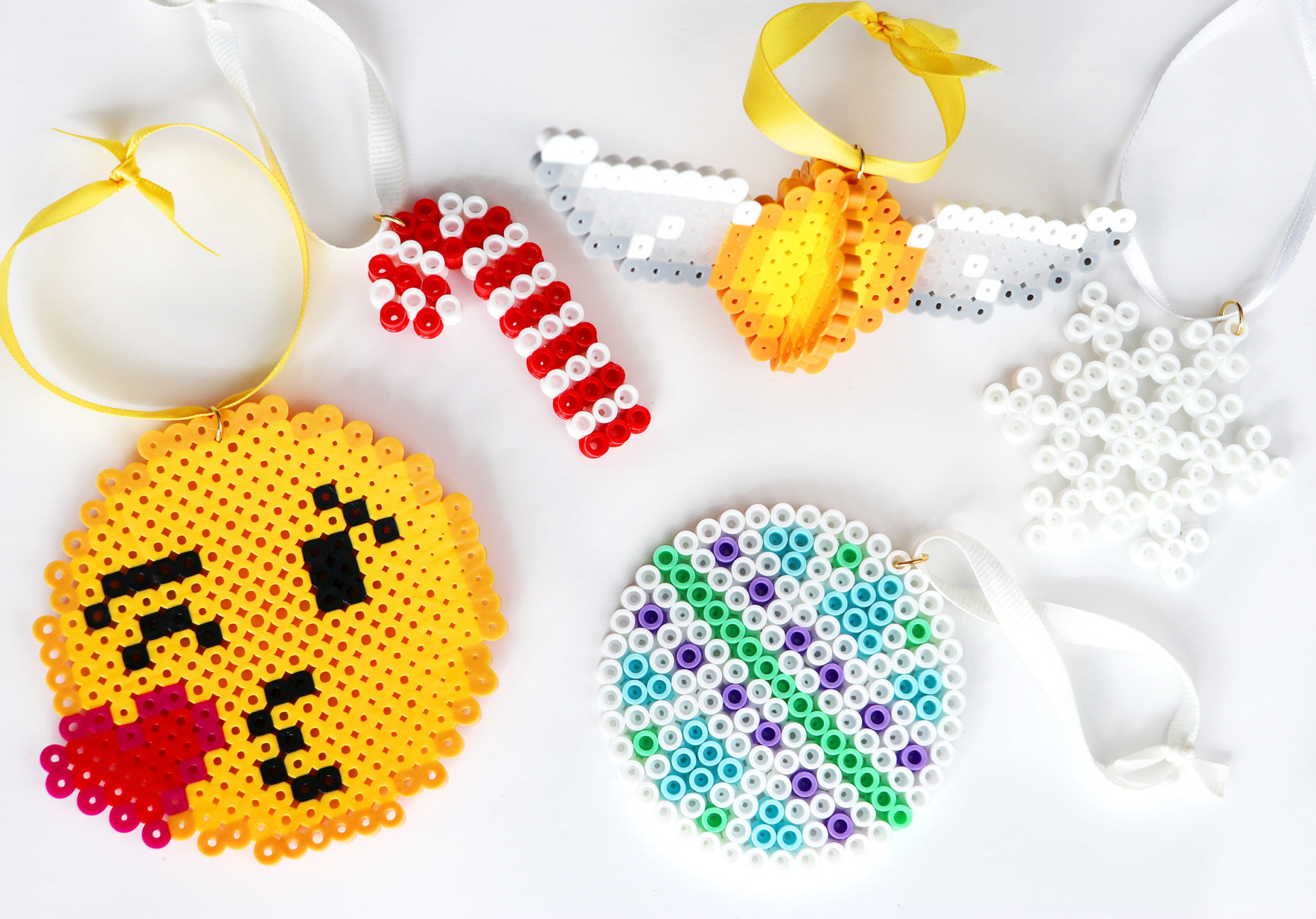 diy perler bead christmas ornaments karen kavett