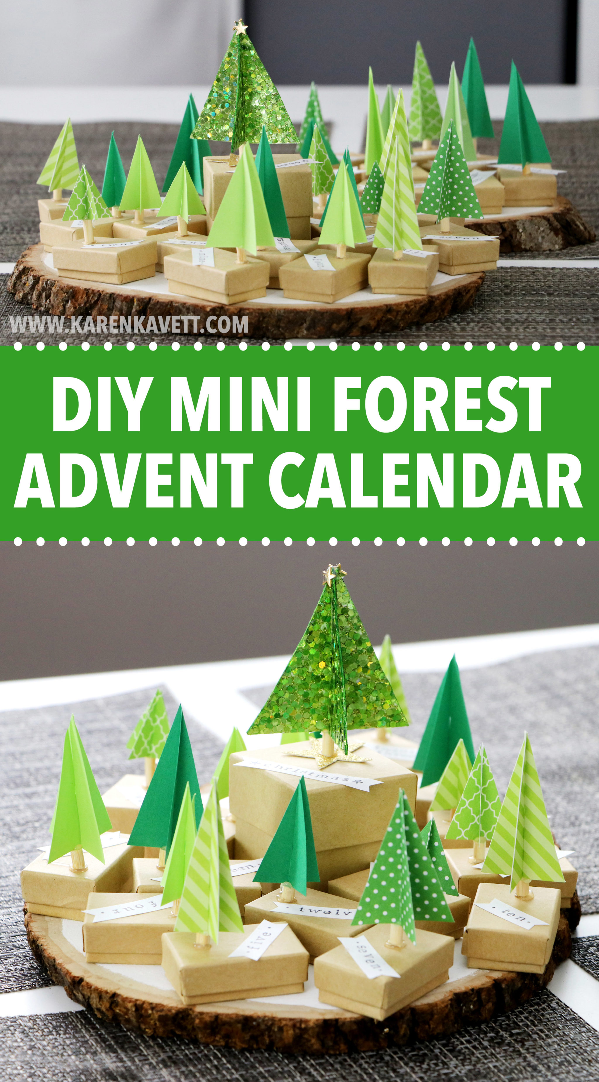 Calendar Advent Diy : Diy paper advent calendar for christmas karen kavett