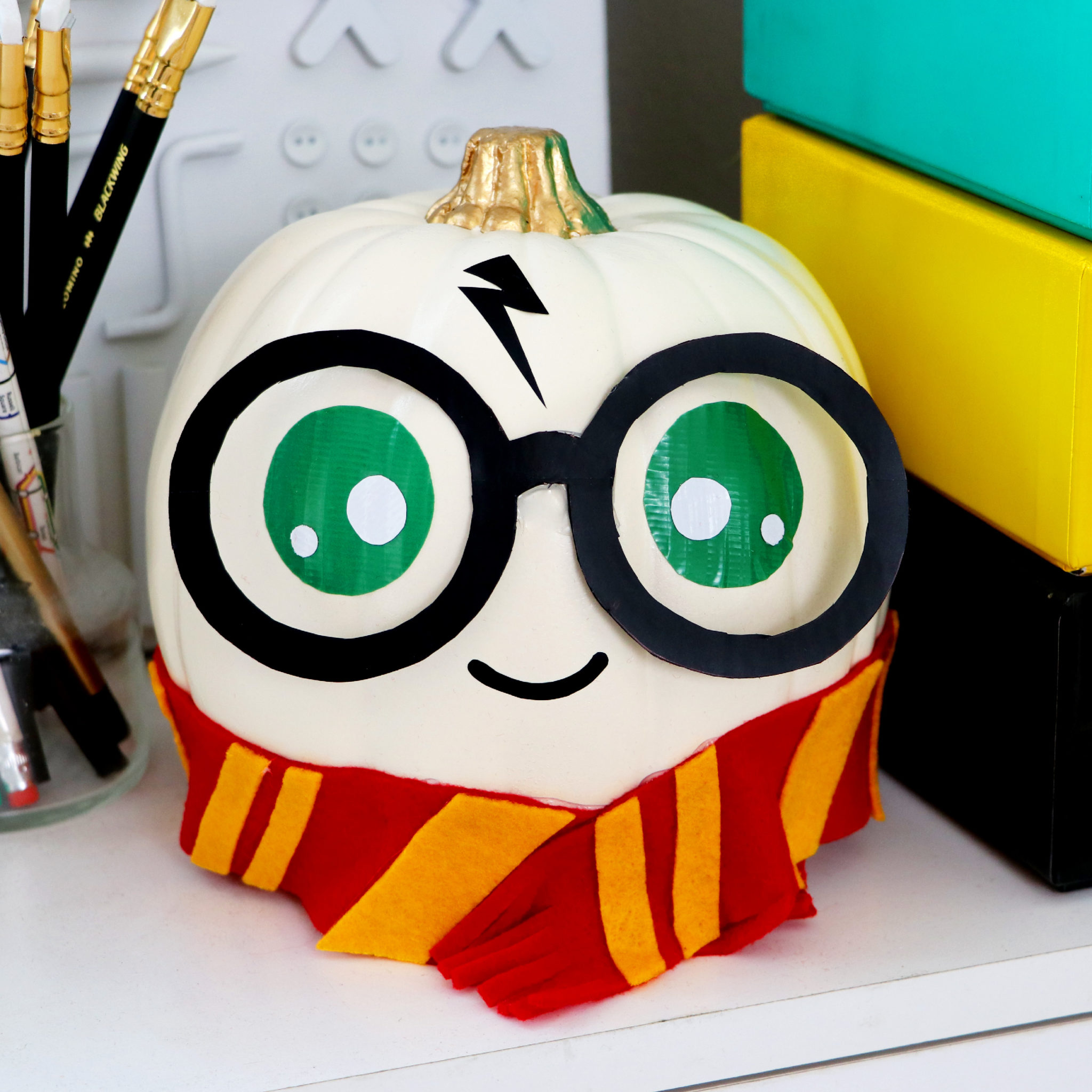 Diy No Carve Harry Potter Pumpkins Karen Kavett