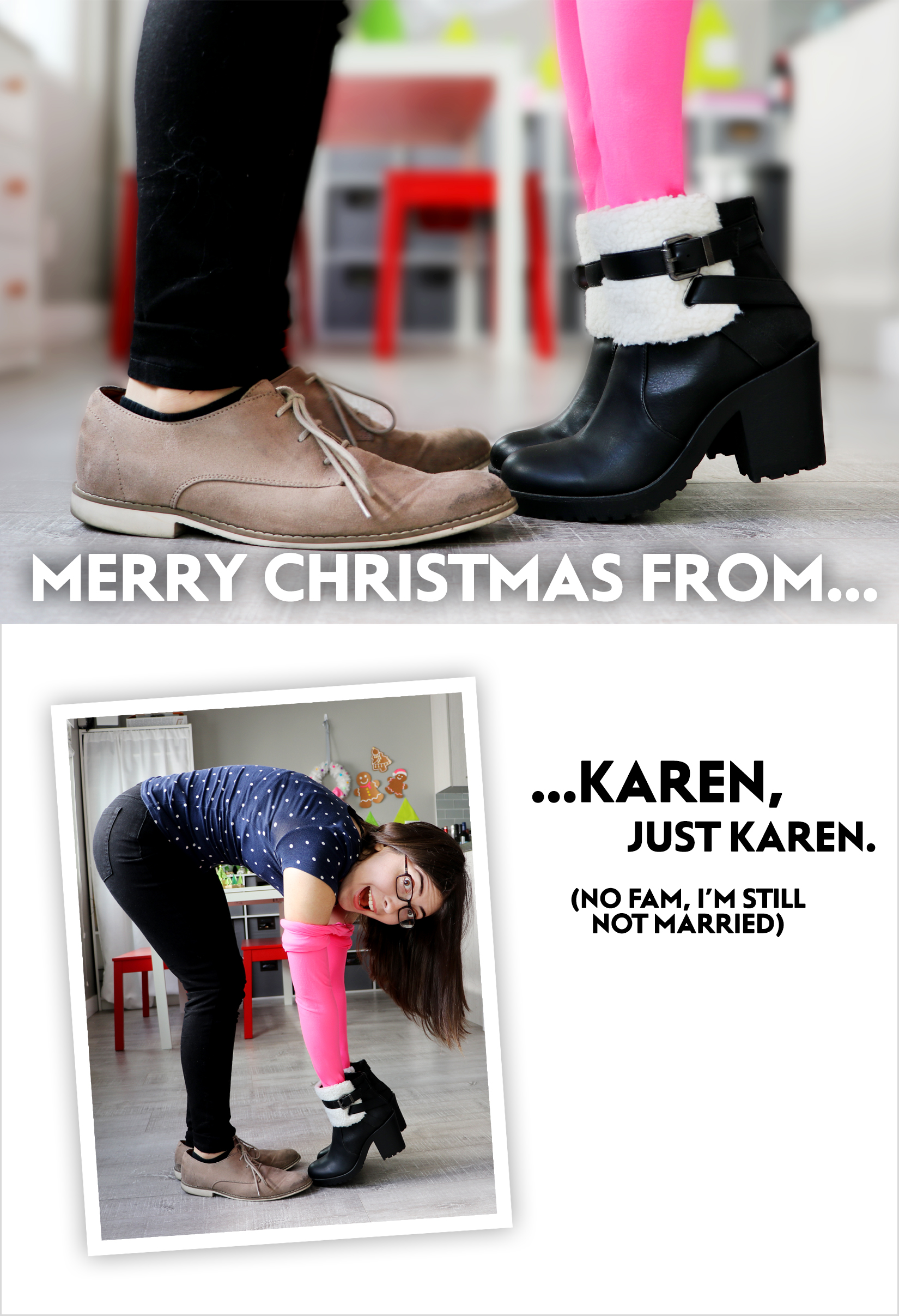 Christmas Card Ideas for Single People - Karen Kavett