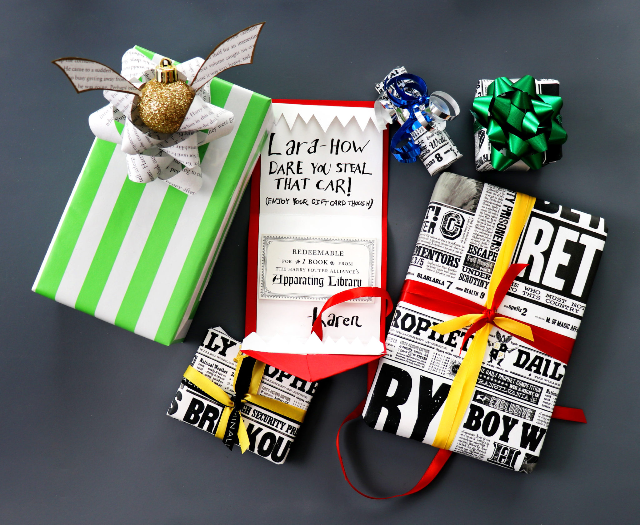 Diy harry potter gift wrapping ideas karen kavett i love wrapping gifts for the holidays and i obviously also love harry potter so today i decided to combine the two into diy gift wrapping you can do negle Choice Image