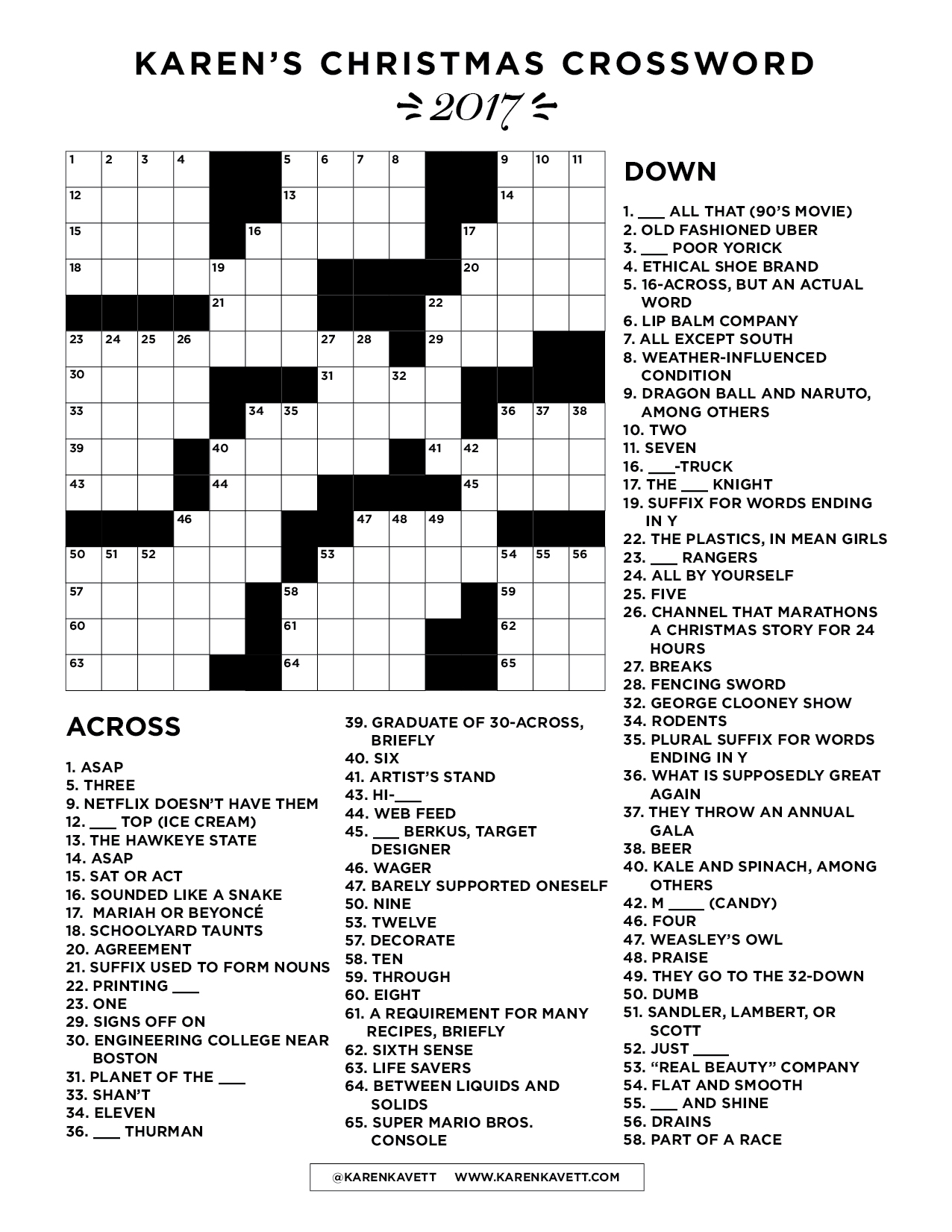 Merry Christmas Everybody As A Gift For My Family I Made Custom Crossword Puzzle With Fun Twist Keep Reading To Download And Print The