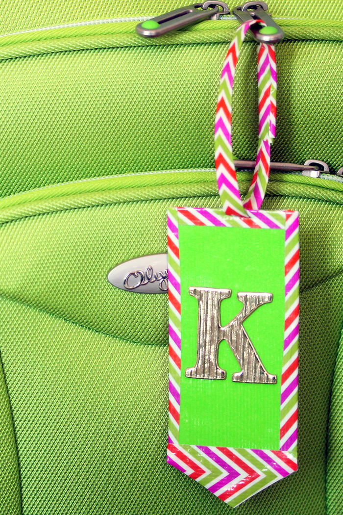 Diy duct tape and leather luggage tags karen kavett for Useful things to make out of paper
