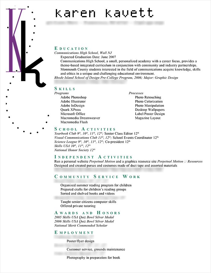 How To Design A Resume How Design A Resume Karen Kavett