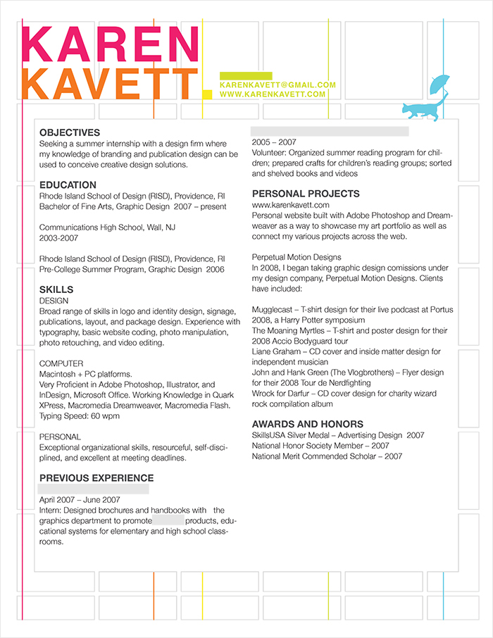 how to design a resume