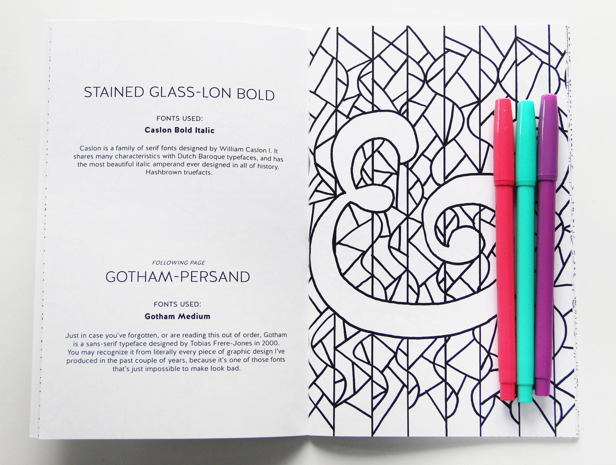 IMPORTANT UPDATE on The Ampersand Coloring Book - Karen Kavett