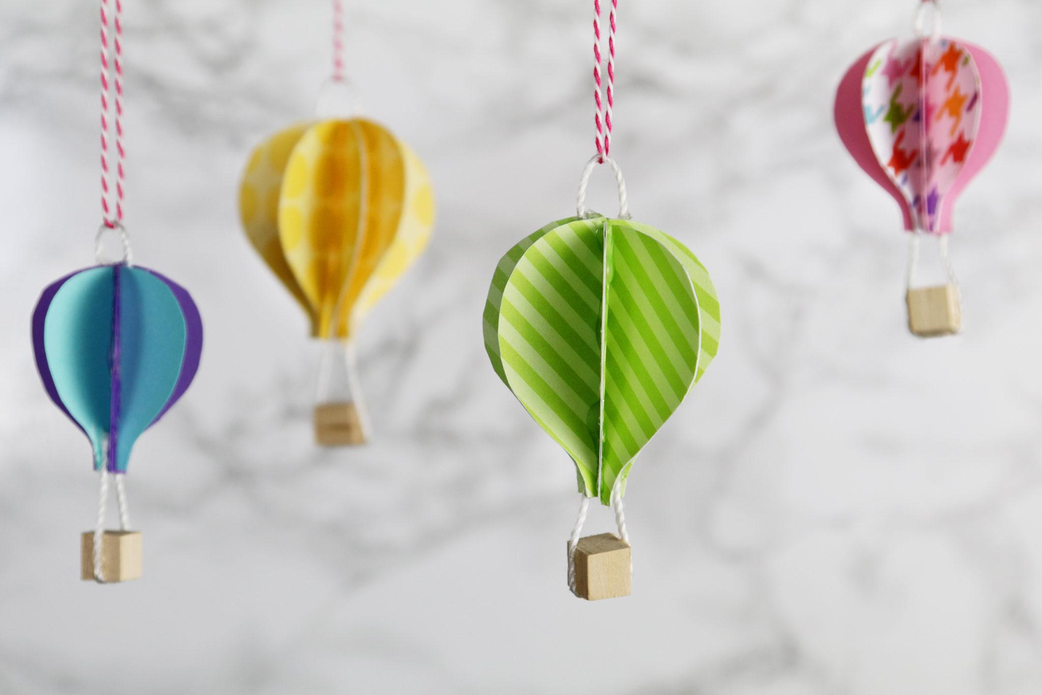 DIY Cute Paper Hot Air Balloons - Karen Kavett