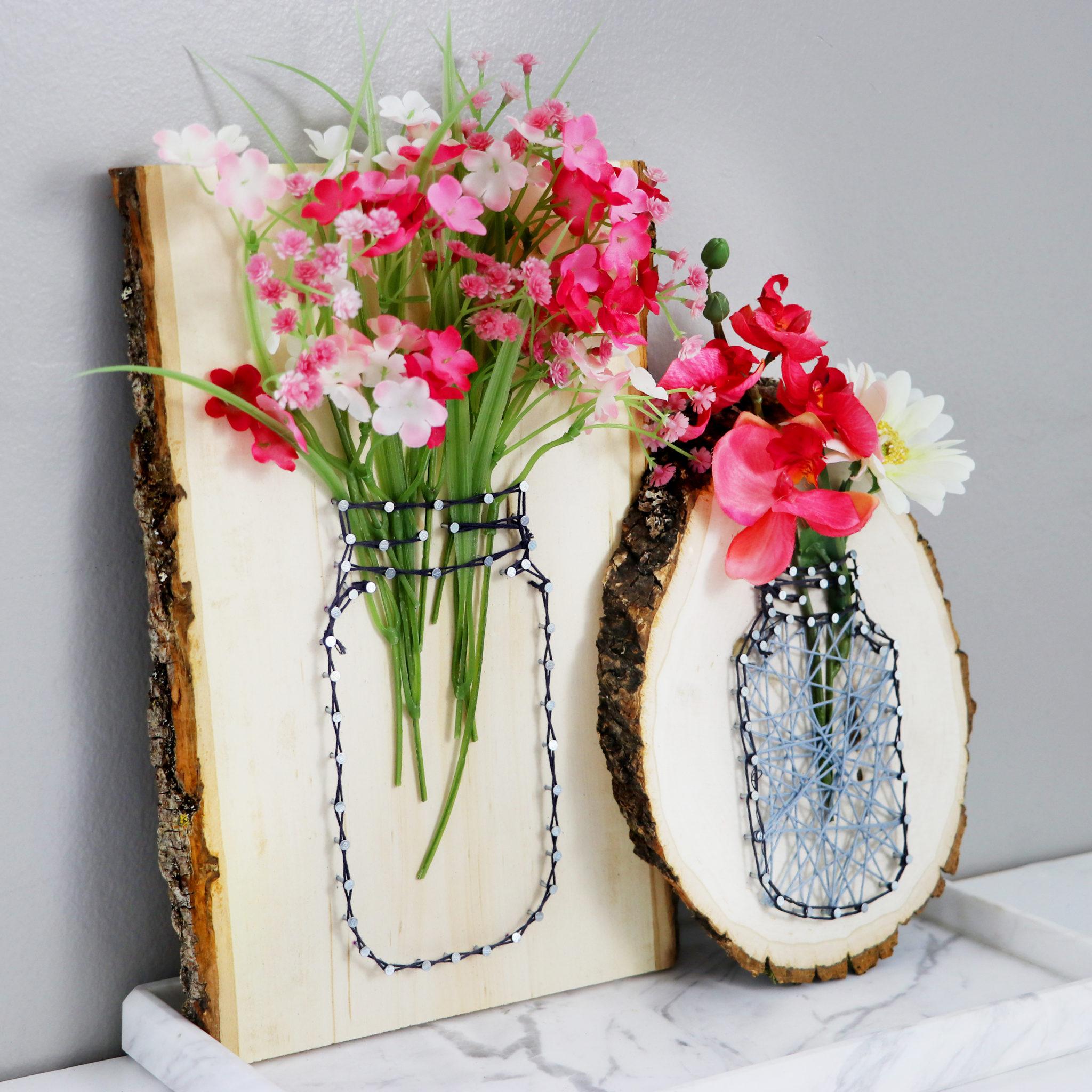 Diy String Art Mason Jar Vases Karen Kavett