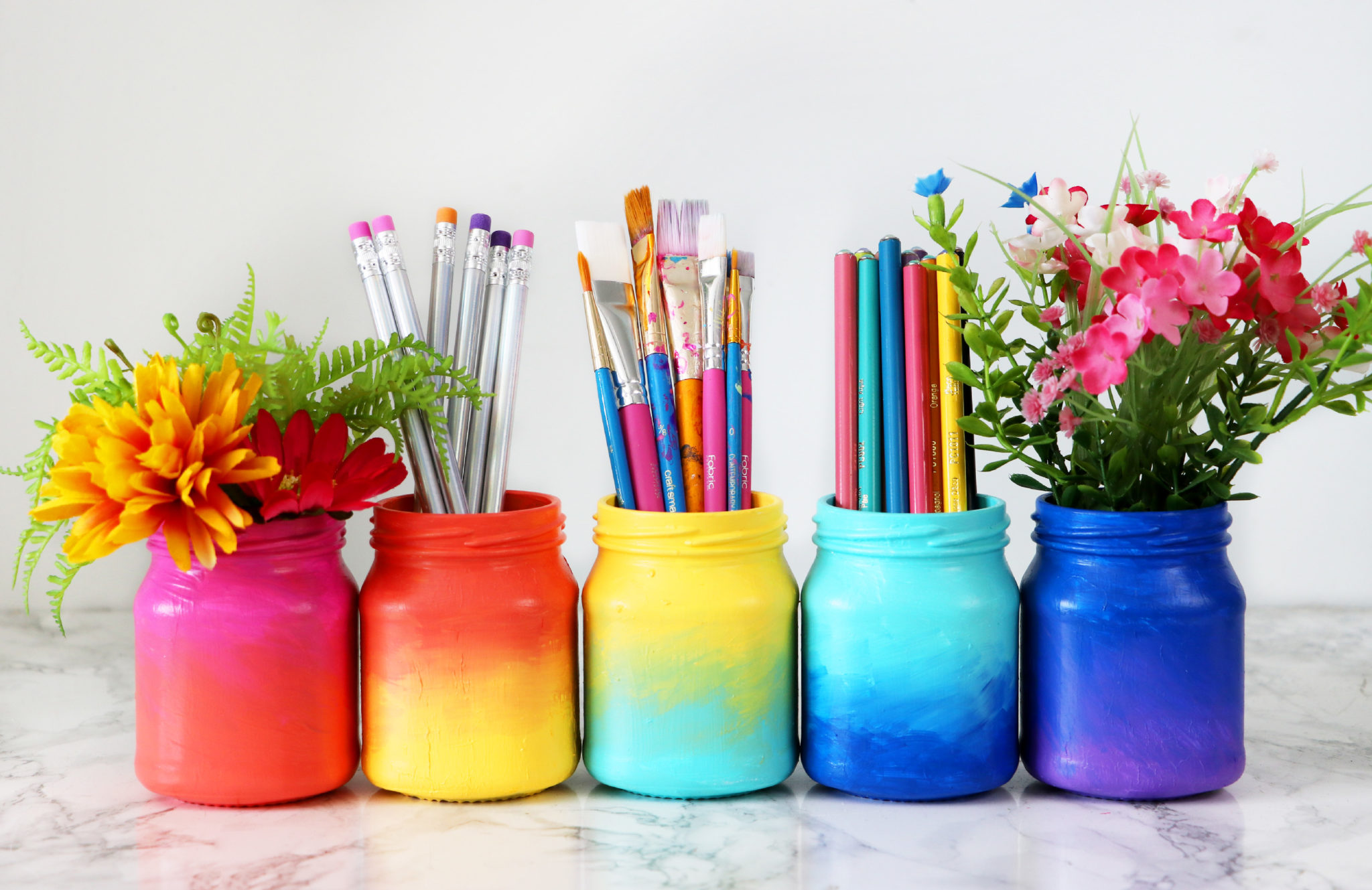 3 Colorful Ways To Transform Glass Jars Karen Kavett