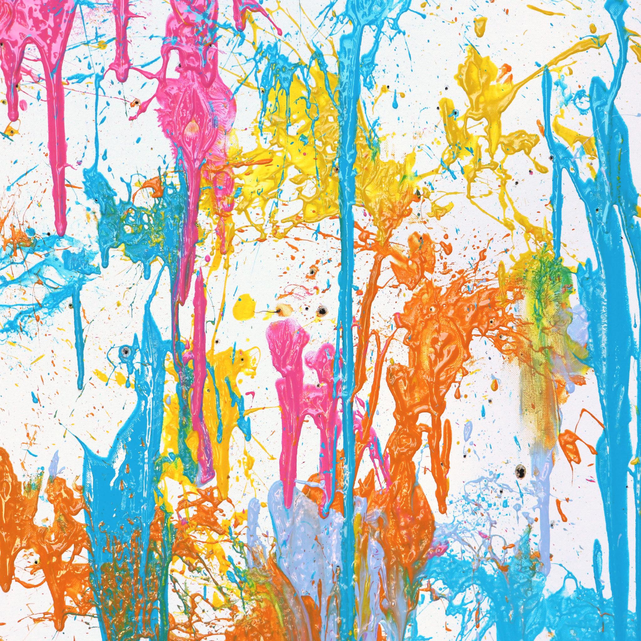 Diy Balloon Splatter Painting Karen Kavett