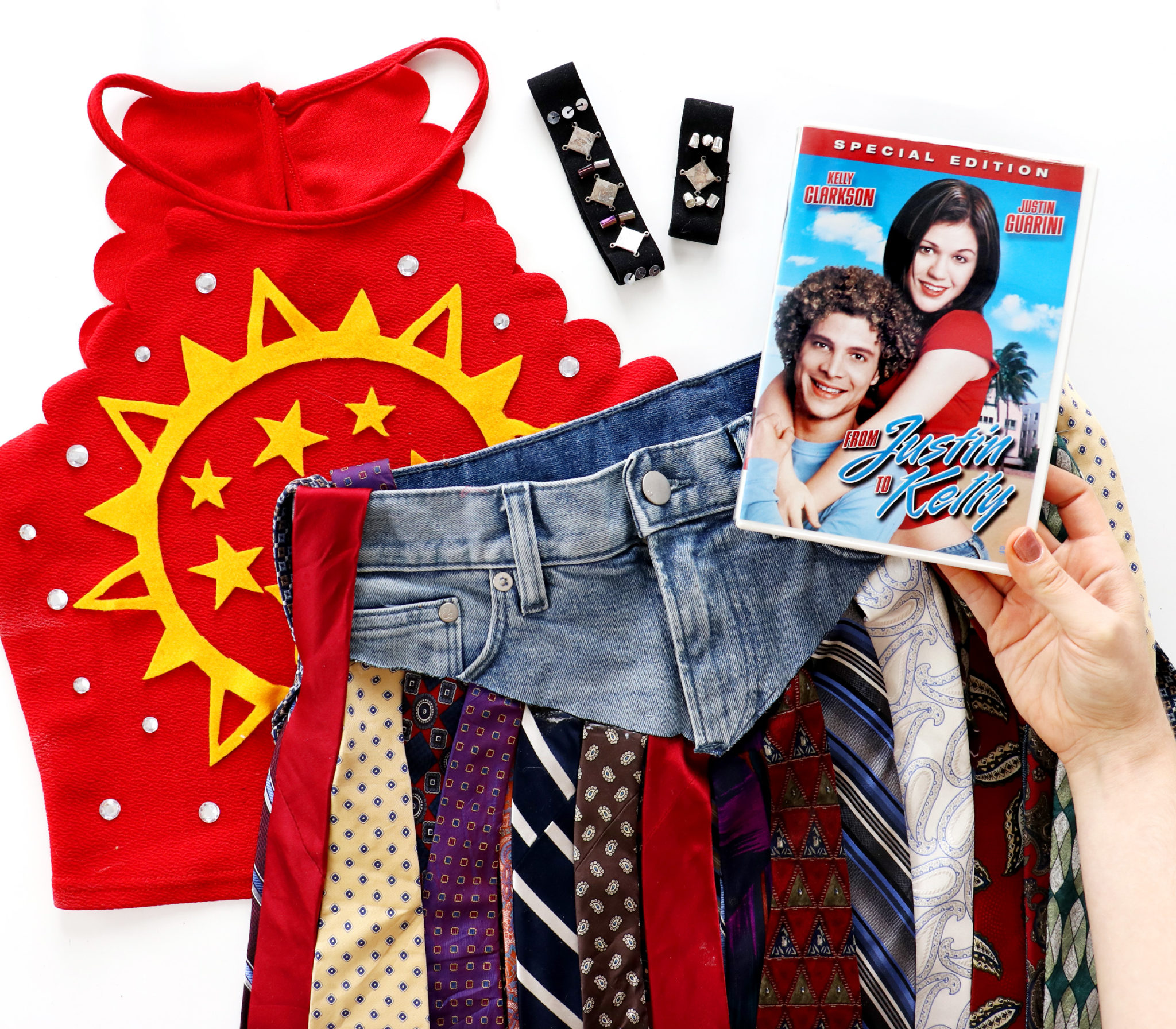 Diy Christmas In July Outfit.Diy From Justin To Kelly Halloween Costume Karen Kavett